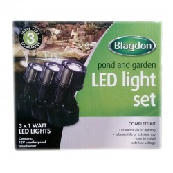 Blagdon LED Light Set 3 x 1 Watt
