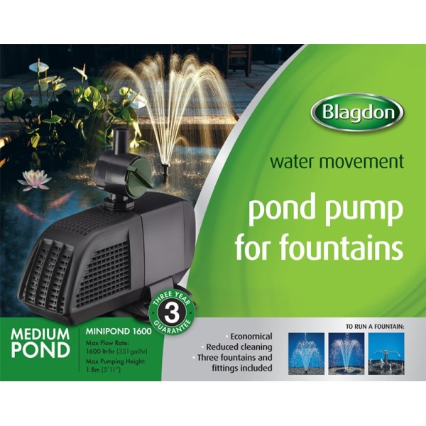 Blagdon MiniPond 1600 Fountain Pump