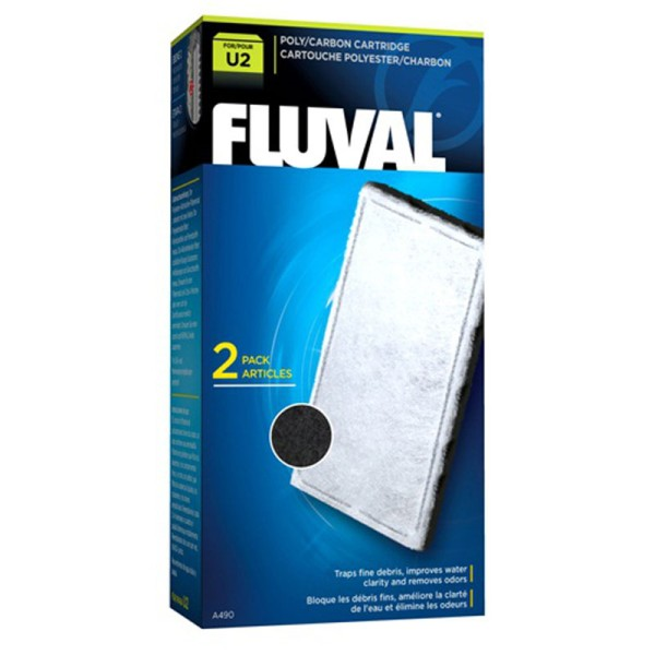 Fluval U2 Poly Carbon Media Cartridge (2pcs) - A490