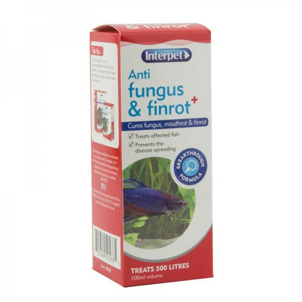 Interpet Anti Fungus & Finrot Aquarium Treatment 100ml
