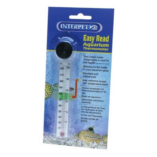 Interpet Easy Read Thermometer with Sucker