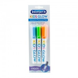 Interpet Kids Glow Pens 3 Pack (Blue, Green & Orange)