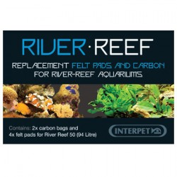 Interpet River Reef 94L Super Fine Filter Pad - 4 Pack & Carbon Bags - 2 Pack