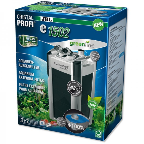 JBL CristalProfi e1502 Greenline External Aquarium Filter