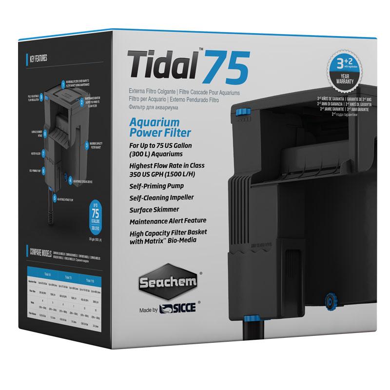 Seachem tidal 75 power filter for Aquarium interieur