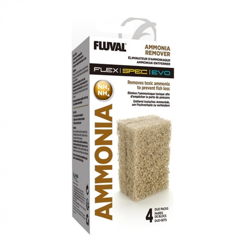 Fluval Ammonia Remover - 4 x Duo-Packs A1333