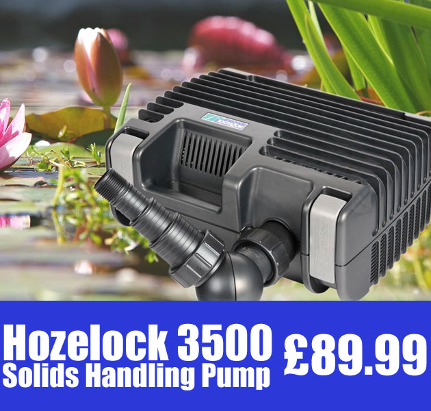 Hozelock 3500 Solids Handling Filter & Waterfall Pump